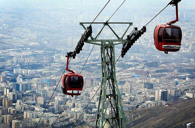 تله کابین توچال 20 جای دیدنی تهران در تابستان