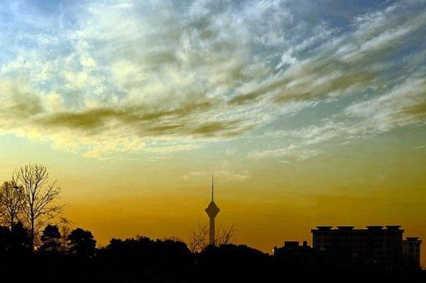 برج میلاد تهران نمای غروب برج میلاد تهران