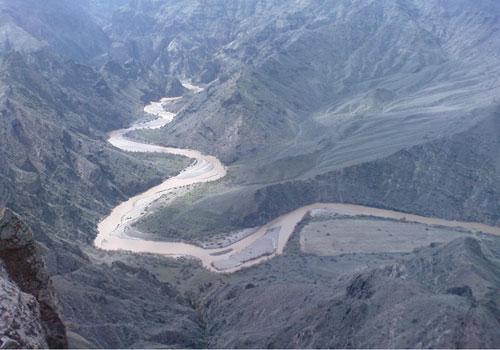 رودخانه قزل اوزن سنندج