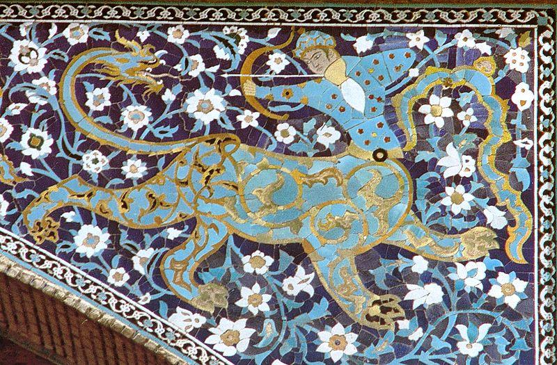 Image result for مرمت کاشی های سردر بازار قیصریه اصفهان