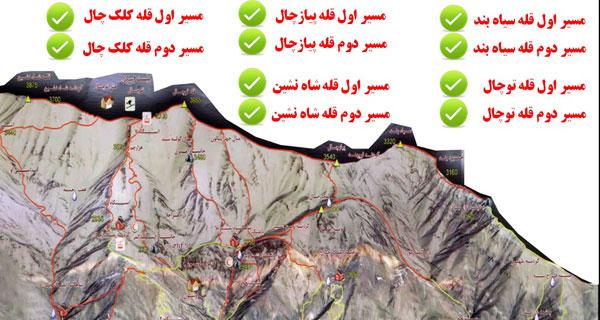 Untitled مسیرهای کوهنوردی کوه های تهران