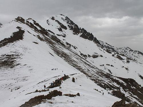 کوه-کلک-چال--قله2 کوه کلک چال، یخچال پربرف تهران