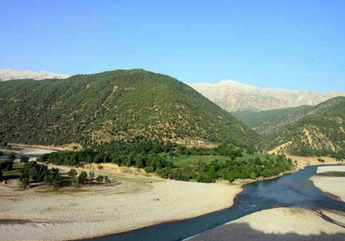 رودخانه-بازفت3 حاشیه رودخانه بازفت