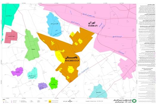 نقشه موقعیت شهر باغستان