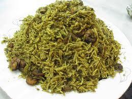 سبزی پلو دامغانی