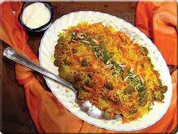 برنج کدو حلوایی ساری