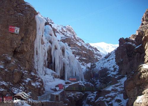 آبنیک آبشار یخی آبنیک