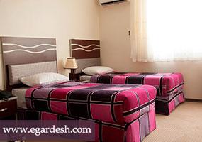 اتاق دوتخته هتل ورزش تهران