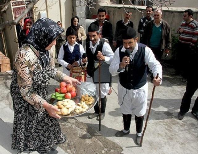 نوروز خوانی در روستای پنجاب آمل