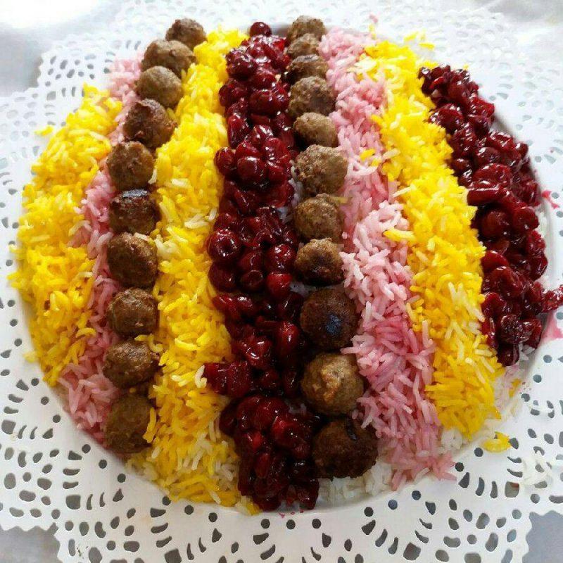 آلبالو پلو شیراز معرفی بهترین غذاهای ایرانی ( 40 غذای سنتی ایرانی )