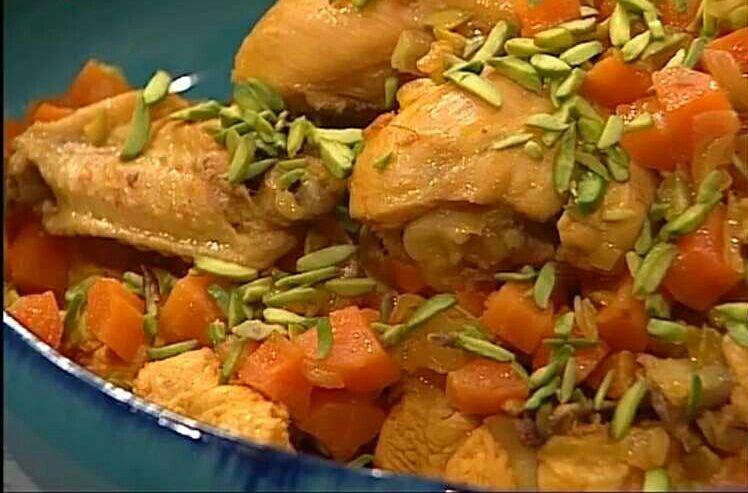 خورشت هویج و پسته سمنان
