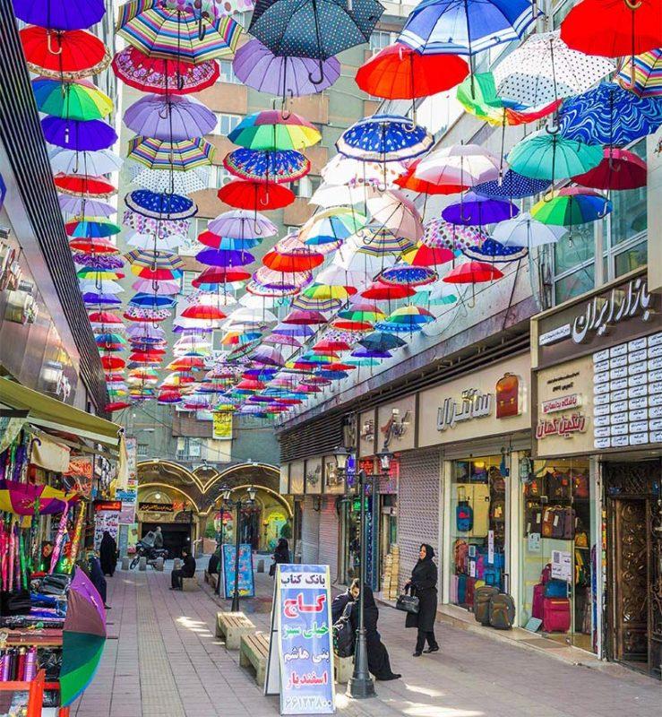 کوچه مهرناز تهران (کوچه ای زیر سایه های چترهای رنگارنگ )