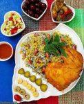 شام اعیانی برای مهمانی ایرانی : پسته پلو باگوشت