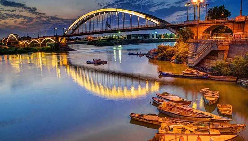 پل سفید از جاهای دیدنی اهواز