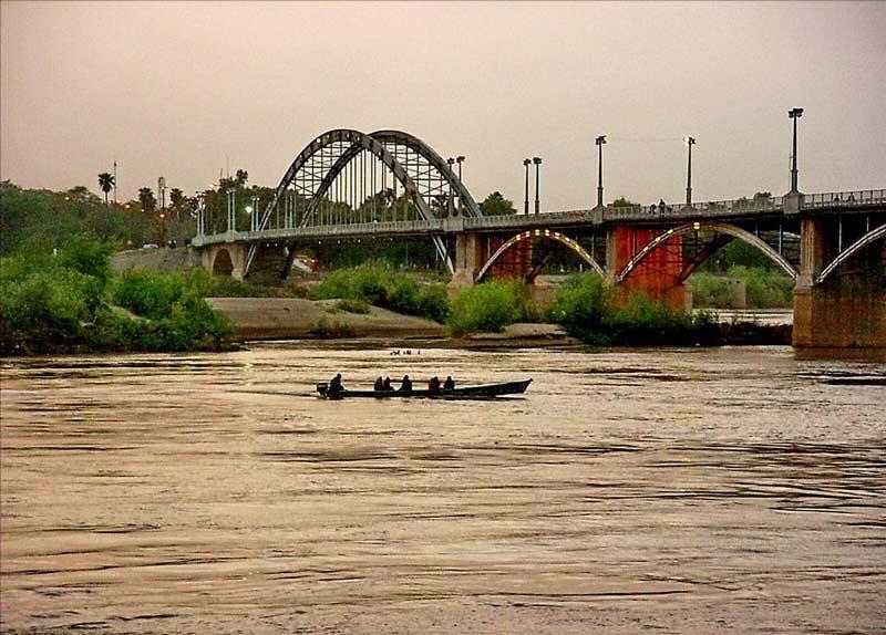 رود کارون از جاهای دیدنی اهواز
