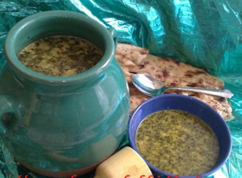 آبگوشت بادمجان و کشک کرمان