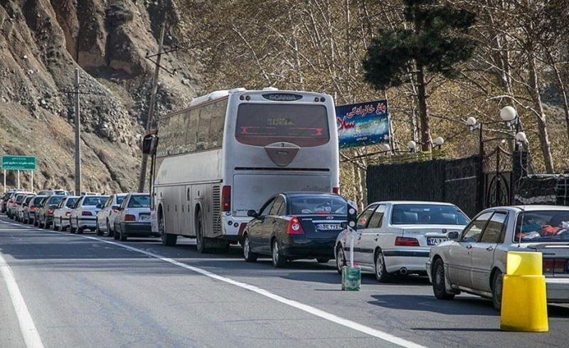محدودیت ترافیکی در جاده کرج   چالوس اجرا می شود
