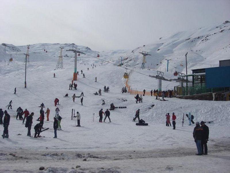جاهای دیدنی تهران پیست اسکی شمشک جاهای دیدنی تهران (100 جاذبه گردشگری تهران)