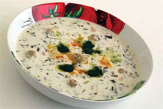 آش دوغ شیرازی