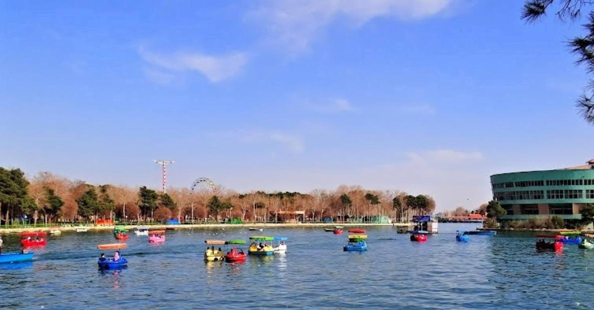 درياچه پارک ارم تهران