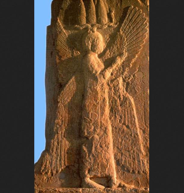 سنگ نگاره مرد بالدار در پاسارگاد