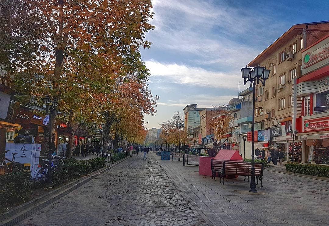 پیاده راه علم الهدی رشت | سیری در ایران