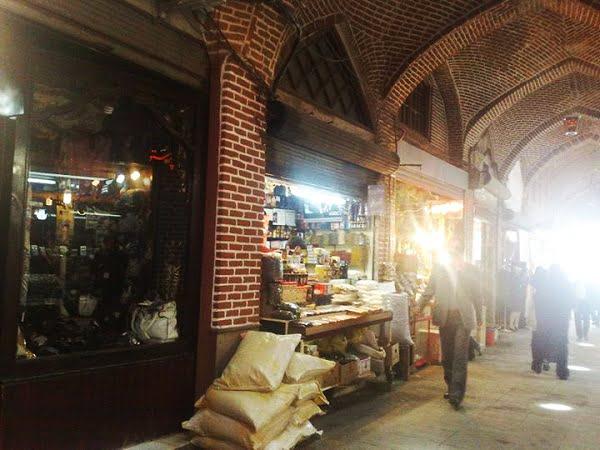 بازار شیشه گرخانه تبریز