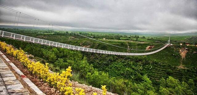 زیپ لاین و پل معلق در پارک جنگلی آبیدر