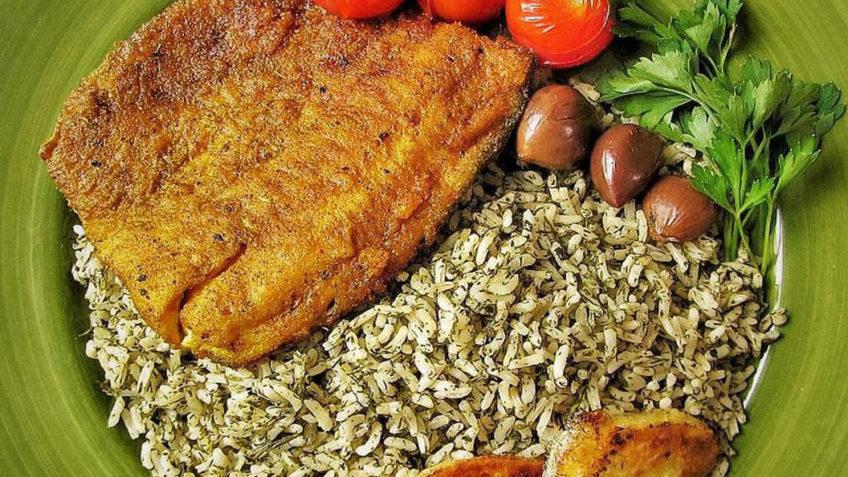 برنج و سبزیجات