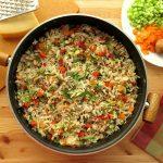 انواع برنج سبزیجات