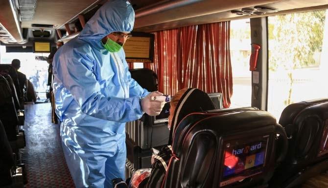 رعایت بهداشت در اتوبوس