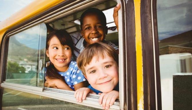 سفر با اتوبوس کودکان